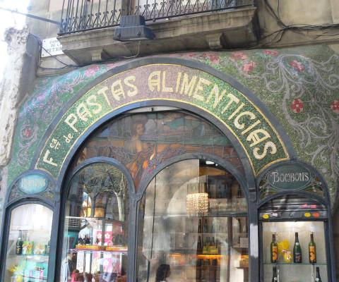 A modernista landmark on Las Ramblas.