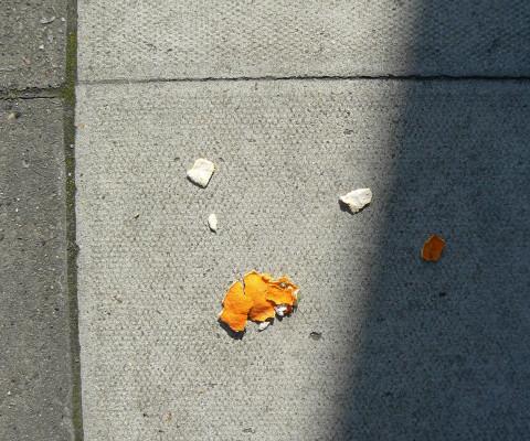 Incidental colour 70 grey and orange peel