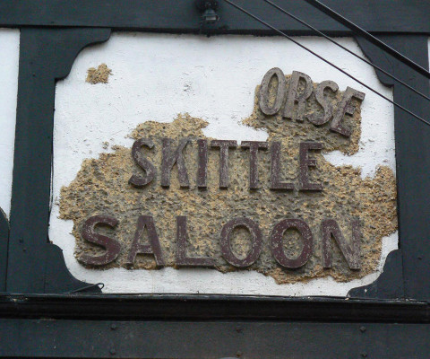Remnants of a pub amenity, Wesnum Street.