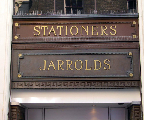 Peculiar, apologetic-looking letters on our fine independent department store.