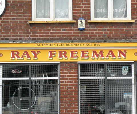 Expertly painted lettering on Heigham Street.