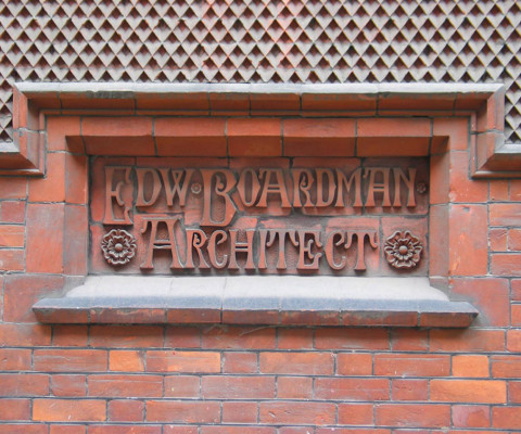 Small plaque in Old Bank of England Court, off Queen Street.