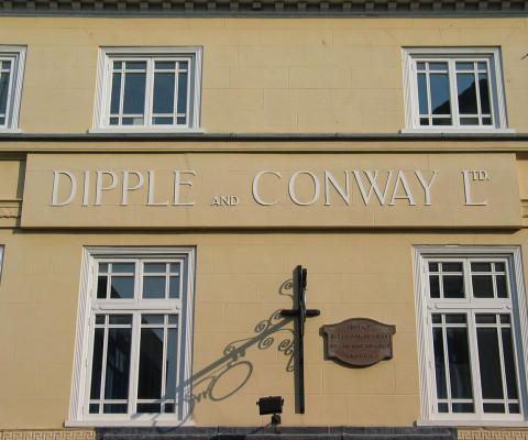 Fine old lettering, Castle Street.