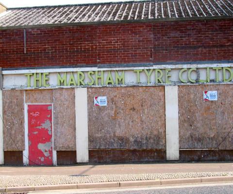 Long gone lettering, off Westwick Street.