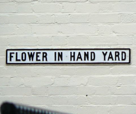 One of the many beautifully named 'yards' of the city.