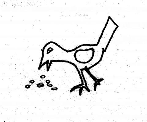 Peckiing bird WG