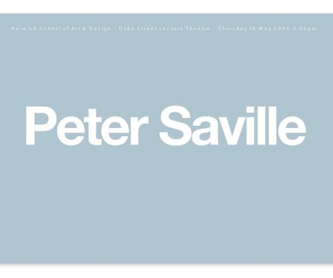 In-house poster for Peter Savile