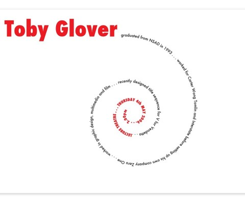 In-house poster for Toby Glover