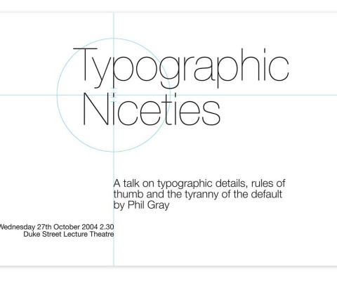 In-house poster for type talk
