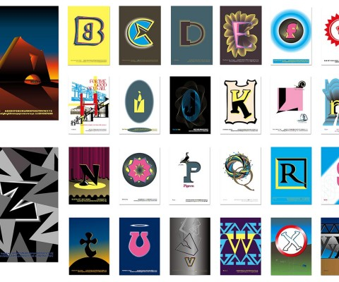 MA: 26 posters for 26 typefaces