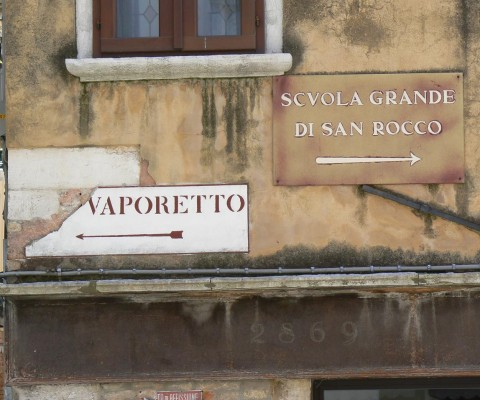 Very Venice! Typically confused and aged signs