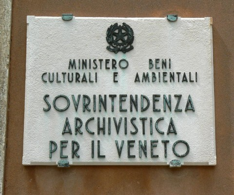 Official sign for the superintendent of the city archives