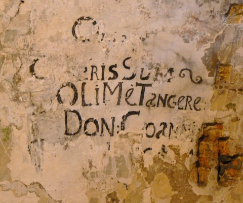 'Noli Me Tangere' graffiti in the prison of the Doge's palace